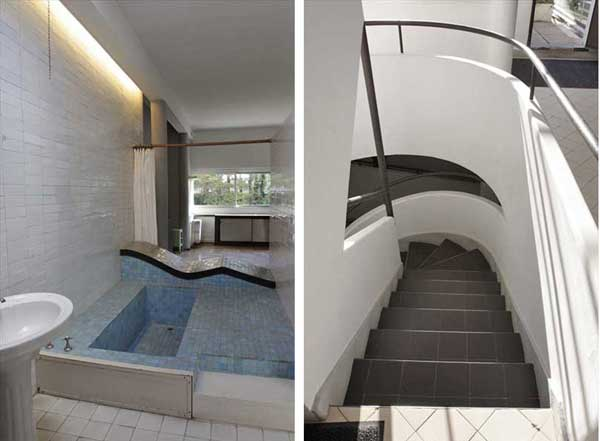 サヴォア邸の内部|ル・コルビュジエ建築|フランス(パリ)